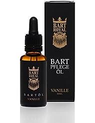 Bart Royal Bartpflege-Öl Vanille, ergiebiges, hochwertig-royales Luxus-Bartöl für weiche, geschmeidig-glatte Voll-Bärte / Drei-Tage-Bart, 30ml