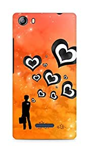 Amez designer printed 3d premium high quality back case cover for Micromax Canvas 5 (E481) (Hearts from boy)