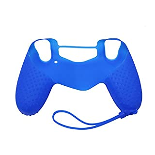 AutumnFall Anti-slip Soft Silicone Case Cover Skin Protector For Sony Playstation 4 PS4 Controller (Blue)