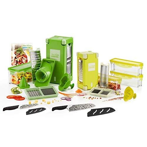 Genius Nicer Dicer Magic Cube | 27 Teile | Obstschneider | Zwiebelschneider | Pommesschneider | Tomatenschneider | Gemüseschneider | Allesschneider | Gemüsehobel | Bekannt aus TV | NEU