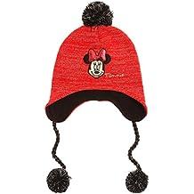 Gorro estilo peruano para niña T54 infantil, diseño de Minnie, color rojo ()