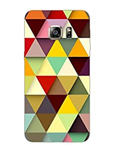 Samsung Note 5 Edge Back Cover - Crazy Triangles - Pattern - Designer Printed Hard Shell Case