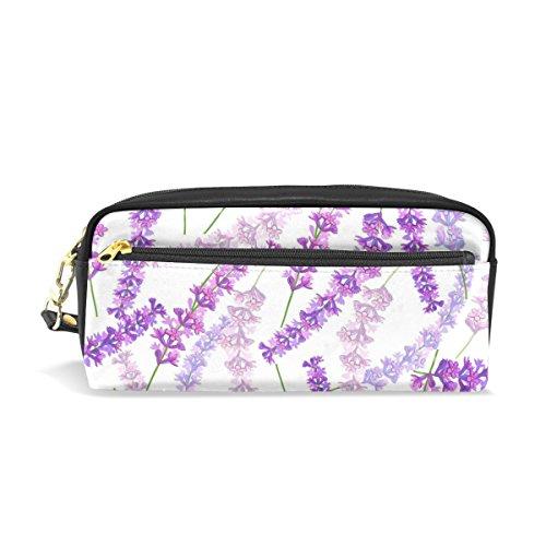 Lavendel Blumen Bulk (jstel Lavendel Blumen Schule Bleistift Tasche für Kid Jungen Kinder Teens Stifthalter Kosmetik Make-up-Tasche Frauen Haltbare Stationery Pouch Bag großes Fassungsvermögen)