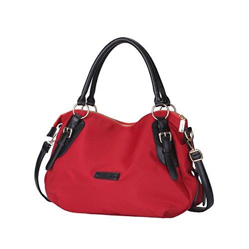 Schultertaschen DISSA Rot Deman S851 neuer Leder 2018 Stil Mode handtaschen mm 380×180×300 Henkeltaschen PU 8w8TxgOr