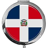 "metALUm - Extragroße Pillendose in runder Form""Flagge Dominikanische Republik"" preisvergleich bei billige-tabletten.eu"