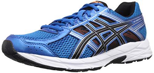 ASICS Men's Gel-Contend 4B Directoire Blue/Black/Orng Running Shoes-7 UK/India (41.5 EU) (8 US) (TOO1B.4390)