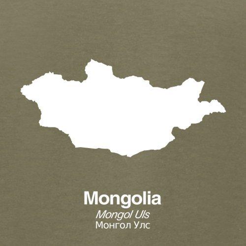 Mongolia / Mongolei Silhouette - Herren T-Shirt - 13 Farben Khaki