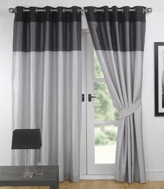 Silver And Black Curtains Amazon Co Uk