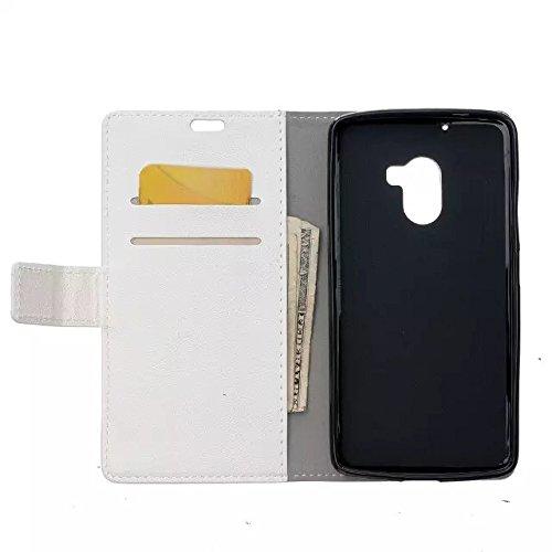 Solid Color Kas Textur Muster Leder Schutzhülle Case Horizontal Flip Stand Hülle mit Kartensteckplätzen für Lenovo Vibe X3 Lite A7010 ( Color : Pink , Size : Lenovo Vibe X3 Lite A7010 ) White