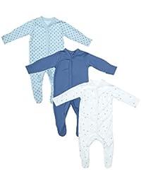 Mothercare Baby Boys  Blue 3 Pack Sleep New Design Sleepsuit b1dbc3197