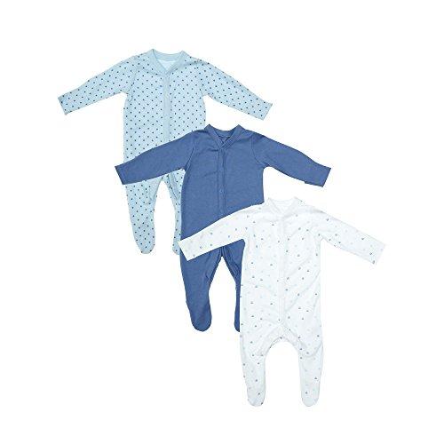 Mothercare Mothercare Baby-Jungen Schlafstrampler Blue Sleepsuits - 3 Pack Mehrfarbig (Lights Multi 213) Verfrüht (Hersteller Größe: 2.29)