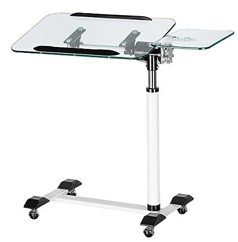 Orolay Laptoptisch über Bett Krankenhaus Beistell-Tisch Basic Weiß