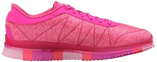 Skechers Go Flex Ability, Baskets Basses Femme Rose (Rose Foncé)