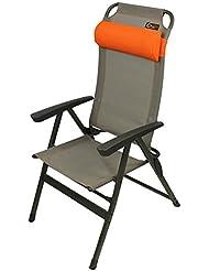 Portal Ken - Aluminium Camping-Stuhl, Hochlehner inkl. Kissen, 5-fach verstellbar, faltbar