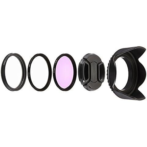 Neewer® - Kit de accesorios de filtro para lente profesional de 52 MM con control remoto ML-L3 para cámara Nikon