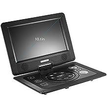 docooler GKN-101 10. 1 Pulgadas Reproductor de DVD Portatil 16: 9 TFT Píxel de la Pantalla 1024x600 Soporte SD / USB / AV Gamepad para TV DVD / CD / MP3 Enchufe de la UE