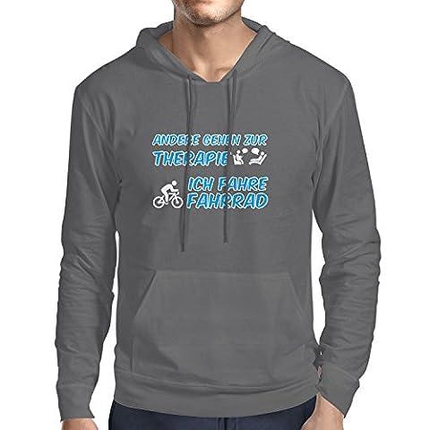 Shockproof - Andere gehen zur Therapie, Ich fahre Fahrrad - Herren Kapuzenpullover, Größe XXL, (Puky Crusader)