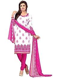 A K Designer Women's Chiffon Dress Material (Mehak1014_Free Size_Off-White)
