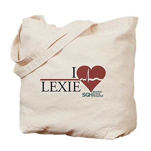 CafePress I Heart Lexie – Grey's Anatomy Tragetasche, canvas, khaki, M