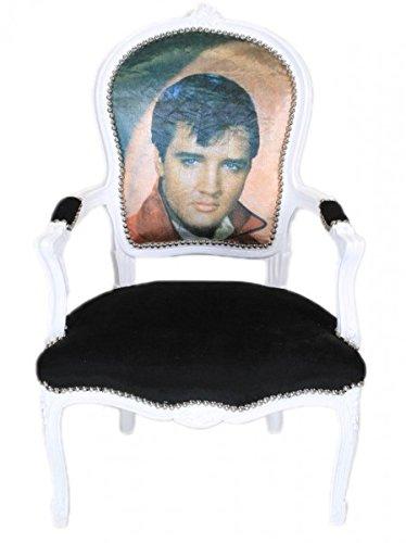 Casa Padrino Barock Salon Stuhl Elvis Presley - Barock Antik Stil Möbel (Elvis Presley-stoff)