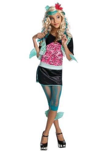 Generique Lagoona Blue Monster High Kostüm für Mädchen 128/140 (8-10 Jahre)