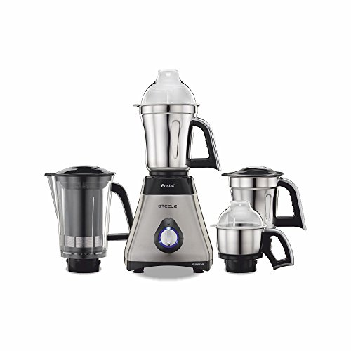 Preethi Steel Supreme MG-208 750-Watt Mixer Grinder (Silver/Black)