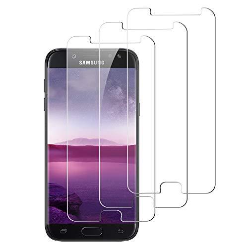 Elecplus [3 Pezzi Pellicola Vetro Temperato Samsung Galaxy j5 2017, Proteggi Schermo [Durezza 9H] [Anti Graffi] Durezza Ultra-Sottile Impermeabile Vetro Temperato per Samsung Galaxy j5 2017