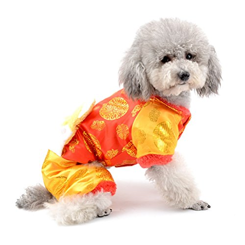 iner Hund Katze Traditionelle Chinesische Tang Kostüme, Puppy Winter Overall Dick Classic Pet NEW YEAR Holiday Suit Ancient Imperial Style Bekleidung (Chinesischen Männliche Kostüm)