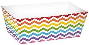 Amscan-148002Rainbow Buffet bandejas de papel rectángulo