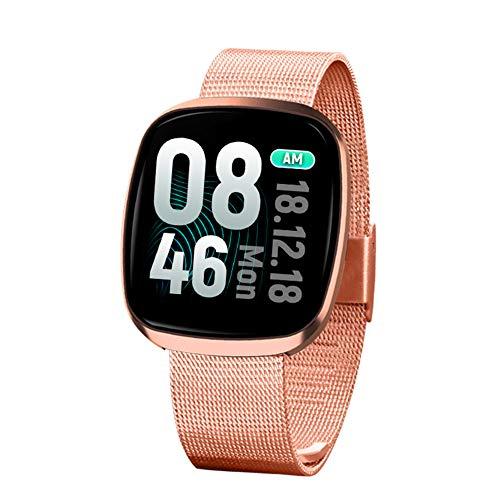 LBDXY Fitness Tracker IP67 Herzfrequenz Messgerät Schlafmonitor Wasserdicht Schrittzähler Fitness Uhr Aktivitätstracker 1,3 Zoll Touchscreen GPS Bewegungsspur für Android und iOS,Gold