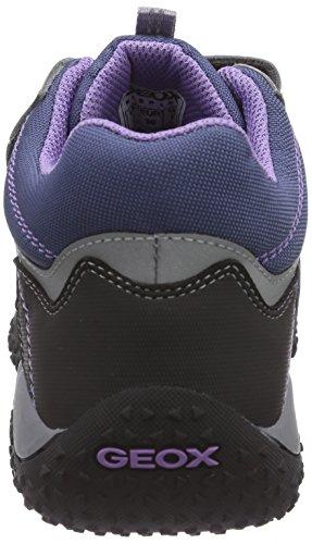 Geox - J Baltic G. Wp A, Sneaker basse Bambina Grigio (Grau (C9275DK GREY/LILAC))