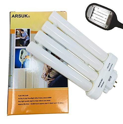 ARSUK 27W Ersatz-Leuchtstoffröhre, Natürliches Tageslicht/Sonnenlicht Lampe, 4 Pin FML Birne (Leuchtstoffröhre 27 W, Ersatz) -