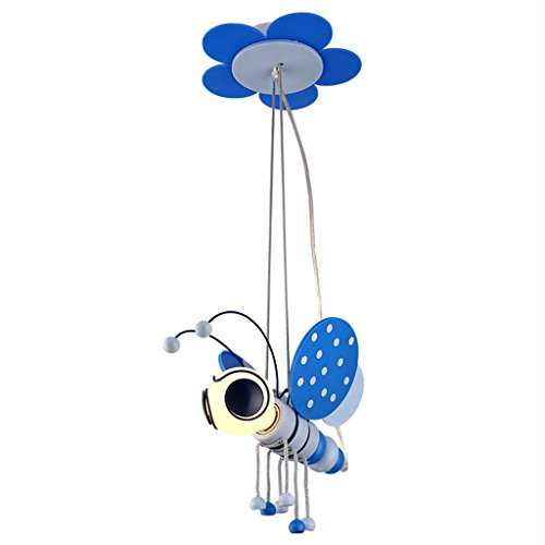 (Boy Kronleuchter Kinderzimmer Kronleuchter Cartoon Zimmer Kronleuchter Biene Kronleuchter Schlafzimmer Kronleuchter Nachttischlampen (Color : Blue-20 * 19 * 70cm))