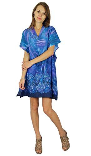 Phagun Kleid Neuen Kaftan Maxi Nachtzeug Böhmischen Kurzen Baumwolltunika Kaftan (Kleid Kaftan Kurze)