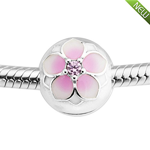 Pandocci 2017 collezione primavera fai da te adatto per pandora bracciali originali argento 925 magnolia bloom della clip dei monili di fascino bead