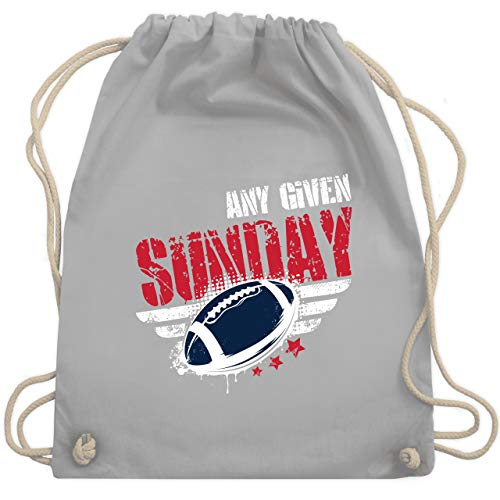 American Football - Any Given Sunday Football New England - Unisize - Hellgrau - WM110 - Turnbeutel & Gym Bag