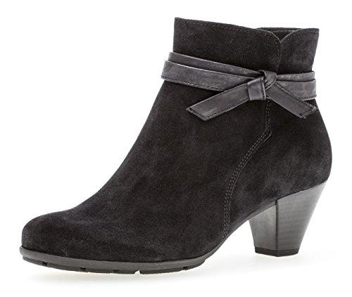 Gabor Damen Ankle Boots 95.642,Frauen Stiefel,Ankle Boot,Halbstiefel,Damenstiefelette,Bootie,knöchelhoch,Blockabsatz 5cm,F Weite (Normal),Pazifik,UK 6.5