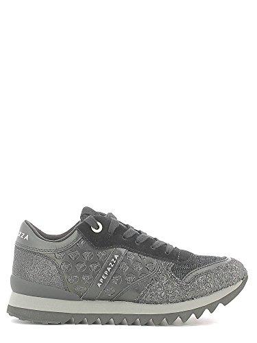 Apepazza DLY09 Sneakers Donna Pelle/Tessuto Nero Nero 39