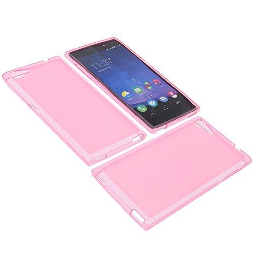 foto-kontor Tasche für Wiko Highway Star Gummi TPU Schutz Hülle Handytasche pink