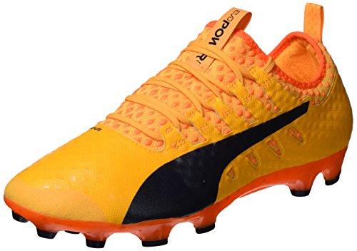 Puma Evopower Vigor 1 AG, Chaussures de Football Homme Orange (Ultra Yellow-Peacoat-Orange Clown Fish 03)