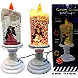 Romantic Candle Light Auto Color Changing With Glitters Color: Multi Color, Pack Of 1 Candle Diwali, Birthday, Party, Gift, Christmas, Candle Lighting Lamp Smokeless 26 CM Decorative Glass ILLUSION Auto Color Changing USB LED Light Water Glitter Spinner C
