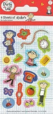 Charlie & Lola Party Stickers 6pk