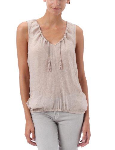 Quiksilver - Shimmer, blusa senza maniche con laccetti nella scollatura, Beige (beige), XS
