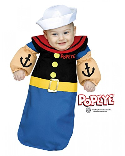 rtes Popeye der Seemann Babysack Kostüm für Fasching One Size (Popeye Baby Kostüme)