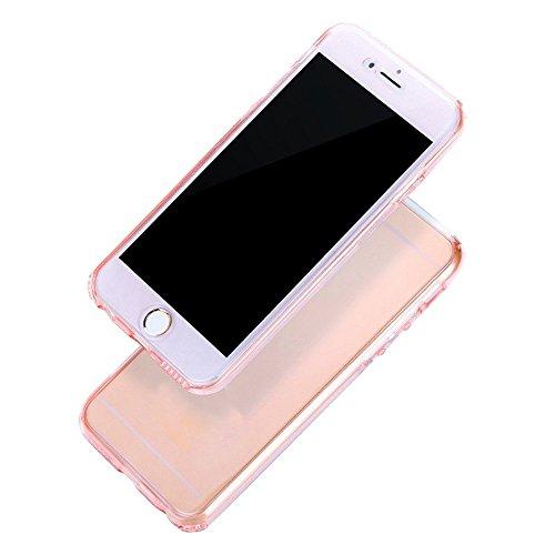 SODIAL(R) 360 Grad Praktisch Huelle Rundum Schutz Cover Tasche TPU Case Vorne + Hinten Fuer iPhone 5/5S/SE Rose Gold Rose Gold