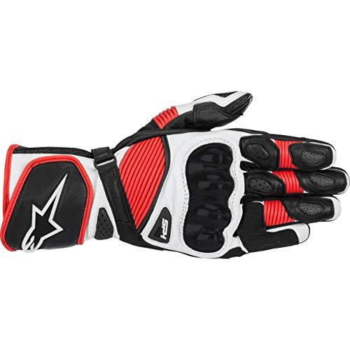 Alpinestars SP-1 v2 - Guanti da moto in pelle, misura M, colore: Nero/Bianco/Rosso