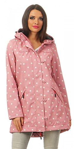 BLUTSGESCHWISTER - WILD WEATHER LONG ANORAK - Damen Jacke, Farbe:Rosa (marilyns dots);Größe:XL