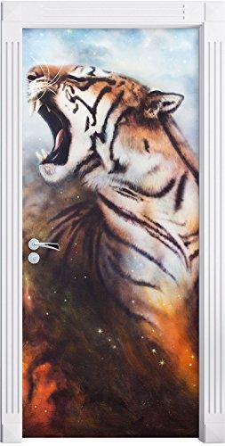 painting-a-tiger-as-mural-format-200x90cm-door-frame-door-stickers-door-decoration-door-stickers