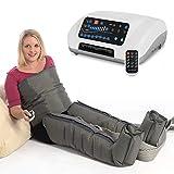 VEIN ANGEL 8 PREMIUM Appareil de massage ventre & jambes :: 8 coussins d'air/jambe & 6 programmes pour pressomassage intensif :: incl. télécommande, top service client & qualité