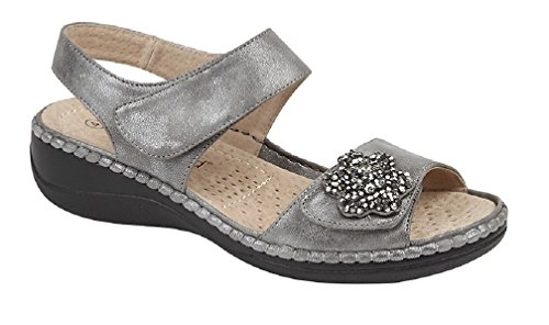 Boulevard, Sandali donna multicolore Pewter/Silver Pewter/Silver
